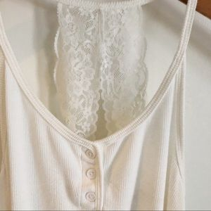 Anthropologie Floreat Lace T-back tank